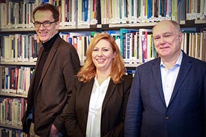 The Directorate of the HBI: Uwe Hasebrink, Kristina Hein and Wolfgang Schulz