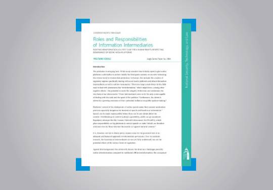 Roles and Responsibilities of Information Intermediaries